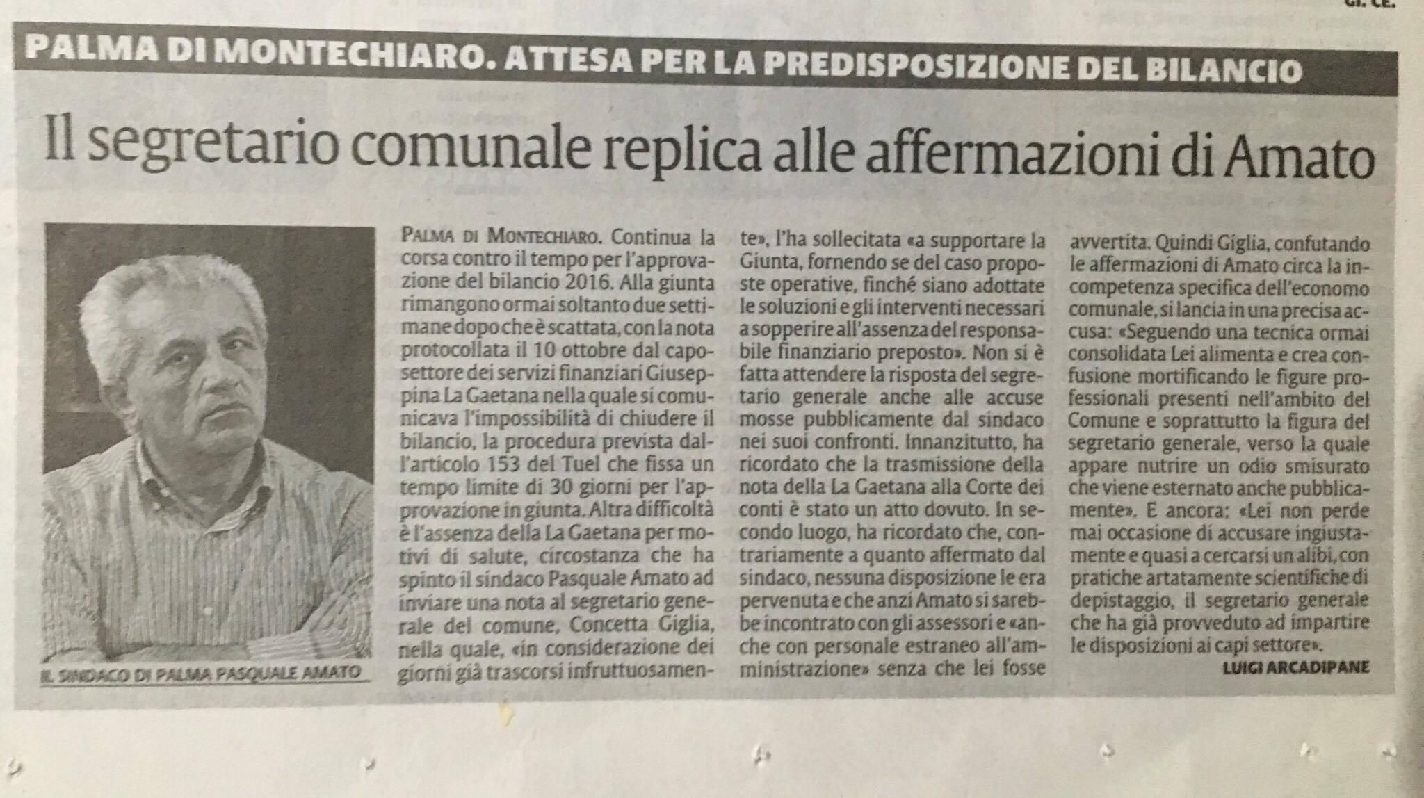 """articolo su""""LA SICILIA"""""""
