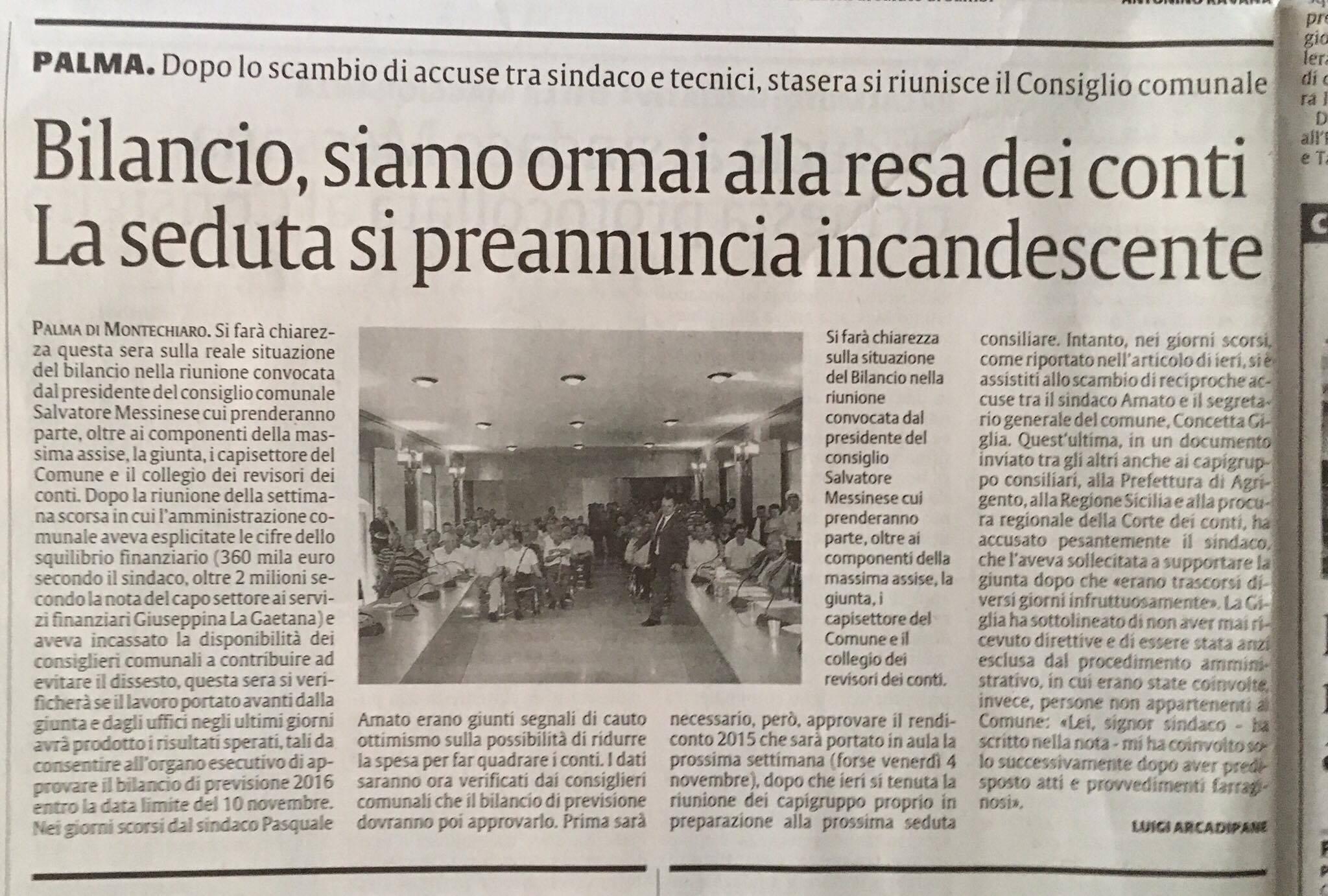 articolo su LA SICILIA